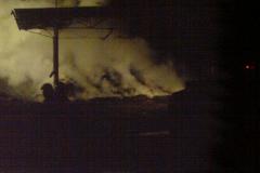 Požár stohu slámy v Kateřinicích