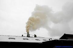 Požár sazí v komíně