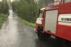 Přívalový déšť v Kateřinicích - 30. 4. 2019