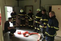 Výcvik jednotky na hasičské stanici v Bílovci - 2. 5. 2019