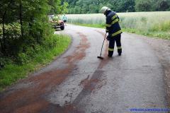 Výjezd jednotky - Olej na vozovce