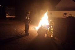 Výjezd jednotky - Požár kontejneru